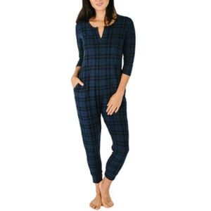 Smash and Tess limited edition size L women's plaid 3/4 sleeve romper. VGUC!